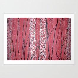 Cherry Bubbles Art Print