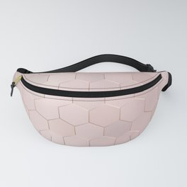 Rose Gold Honeycomb Fanny Pack