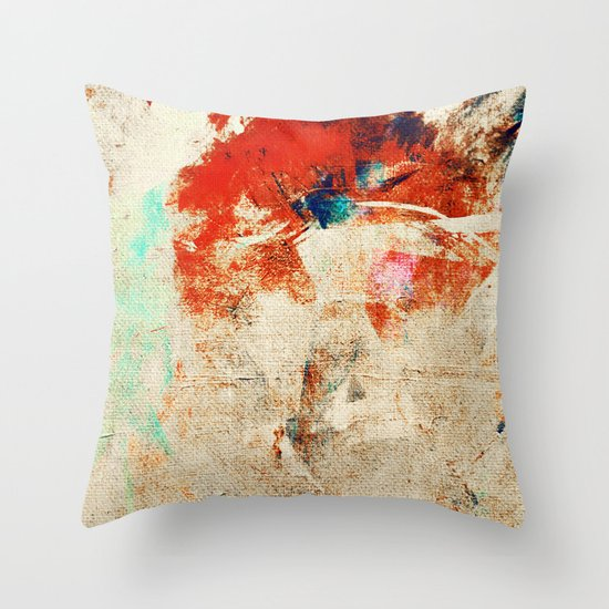 Crazy River Throw Pillow