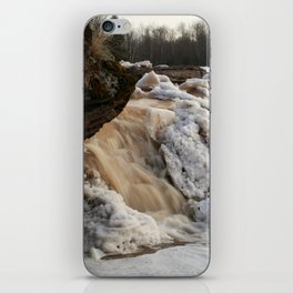 Wintry Bonanza Falls  iPhone Skin