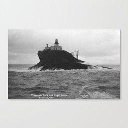 Vintage Photo of Tillamook Rock Lighthouse Canvas Print