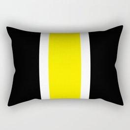 TEAM COLORS 10....YELLOW,BLACK Rectangular Pillow