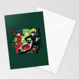 Miraculous Ladybug and Cat Noir Stationery Cards