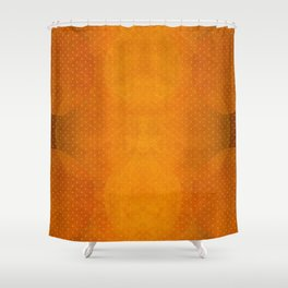 """Sabana Sunset Light Polka Dots"" Shower Curtain"