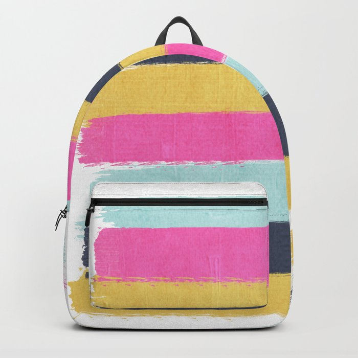Sacha - stripes painting boho color palette bright happy dorm college abstract art Backpack