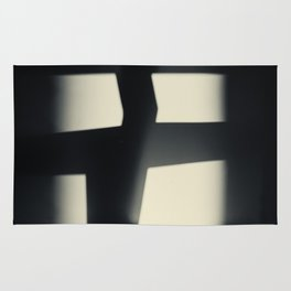 German Expressionism Experiment Abstract Shadows Rug