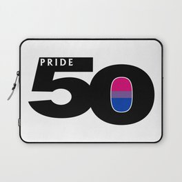 50 Pride Bisexual Pride Flag Laptop Sleeve