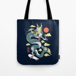 Hip Hop Dragon Tote Bag