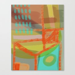 Shapes and Layer no.8 - Abstract painting Canvas Print