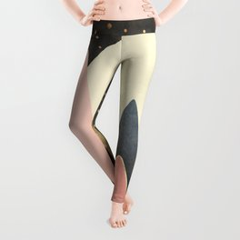 Pink and Gold Peaks Leggings