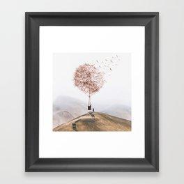 Flying Dandelion Framed Art Print