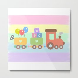 Choo-Choo here i come Metal Print