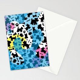 Crazy Dogs Pattern Stationery Cards