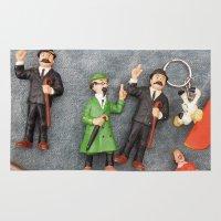 tintin Area & Throw Rugs featuring Tintin Toy by Cristina Ortiz Photo