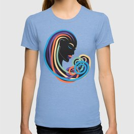 Tangle of color - black beauty T-shirt