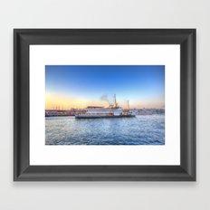 Pleasure Cruise Boat Istanbul Framed Art Print