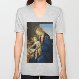Botticelli  -  The Virgin And Child The Madonna Of The Book Unisex V-Neck