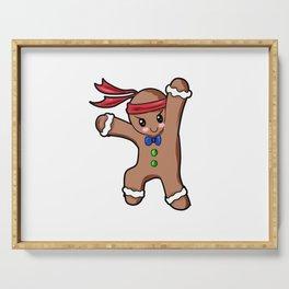 Gingerbread Man Christmas Present Gift Baking Cartoon Serving Tray