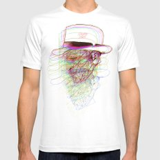Happy Hat SMALL White Mens Fitted Tee