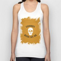 the goonies Tank Tops featuring Goonies Never Say Die by Christina