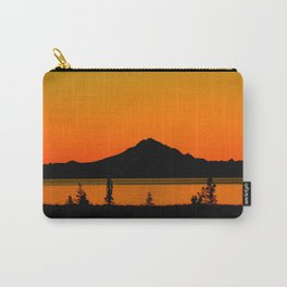 Sunset Silhouette, Mt. Redoubt - Alaska Carry-All Pouch