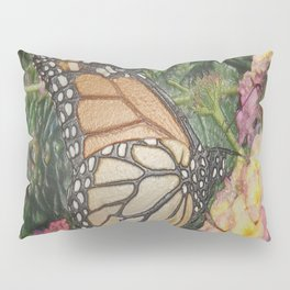 Monarch Butterfly Abstract Pillow Sham