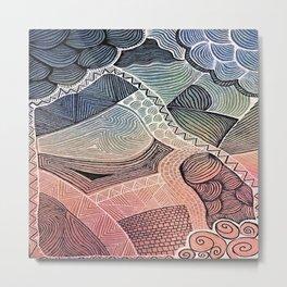 Zentangle #13 Metal Print