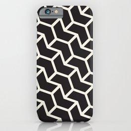 Black & White Geometric Pattern Chevron Arrow Interlock iPhone Case