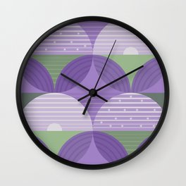 Lavender Fields Wall Clock
