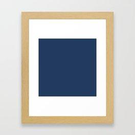 """Navy Peony"" pantone color Framed Art Print"