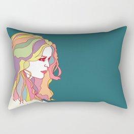 Big Hair day Rectangular Pillow