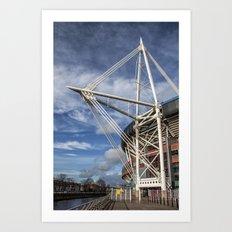 Millenium Stadium, Cardiff. Art Print
