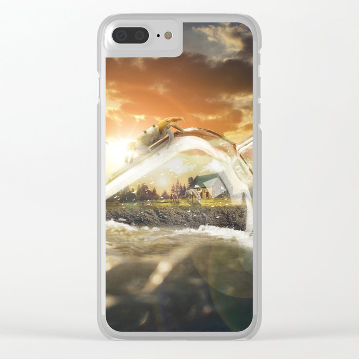 The World in a Bottle Clear iPhone Case