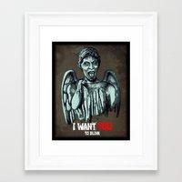 blink 182 Framed Art Prints featuring Blink by Remus Brailoiu