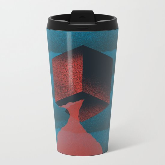 RED CUBE Metal Travel Mug