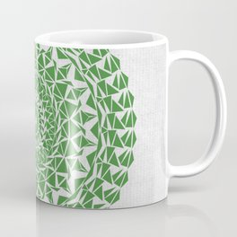 Mandala Green on Japanese Rice Paper Coffee Mug
