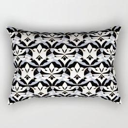 Interwoven XX - Black Rectangular Pillow