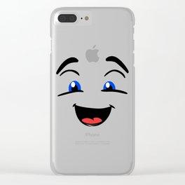 Emoji happy face Clear iPhone Case