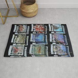 London Collage abstract Rug