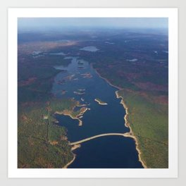 Scituate Reservoir and Islands Skyview - Scituate, Rhode Island Art Print