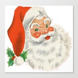 Retro Santa Canvas Print