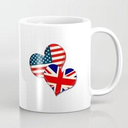 USA and UK hearts Coffee Mug