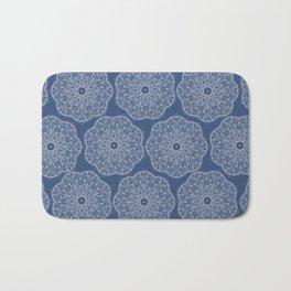 Blue Peace Mandala (tiled) Bath Mat