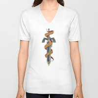 sword V-neck T-shirts featuring zelda Sword  by IF ONLY