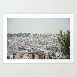 Athens Skyline Art Print