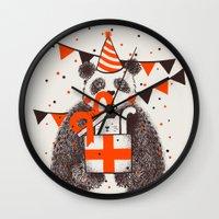 birthday Wall Clocks featuring Happy Birthday by Tobe Fonseca