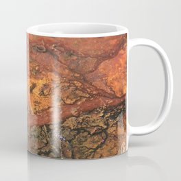 Mars mixed media on canvas, abstract art painting designs, contemporary artist colorful design Coffee Mug