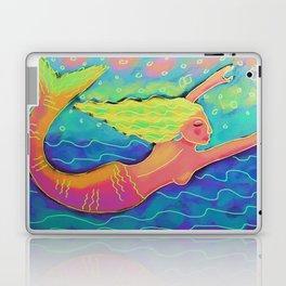 Swimming Mermaid Abstract Digital Painting  Laptop & iPad Skin