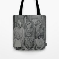 politics Tote Bags featuring Office Politics by LeeBoydArtist