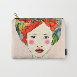 lotus girl Carry-All Pouch